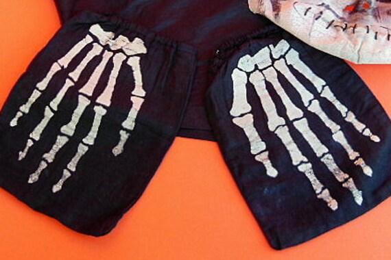 Vintage Halloween Costume, Vintage Skeleton Costu… - image 3