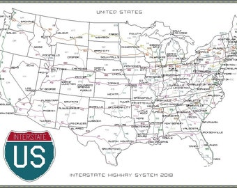 United States and its Capitals Cross-Stitch Map PDF Download ...