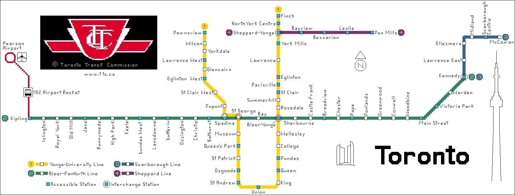Toronto Subway Map Pdf.Toronto Subway Map Cross Stitch Pattern Pdf Download Metro Design Chart Ontario Canada