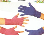 PDF Vintage Gloves Fingerless Gloves Knitting Pattern womens ladies kids mens Patons 7386 Novelty Classic Traditional Modern FUNKY