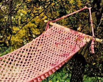 PDF 1970s Boho Summer Lacy HAMMOCK Crochet Pattern, solomans knot, Retro, Hippy, Fairytale, Dreamy, Groovy, Whimsicalx