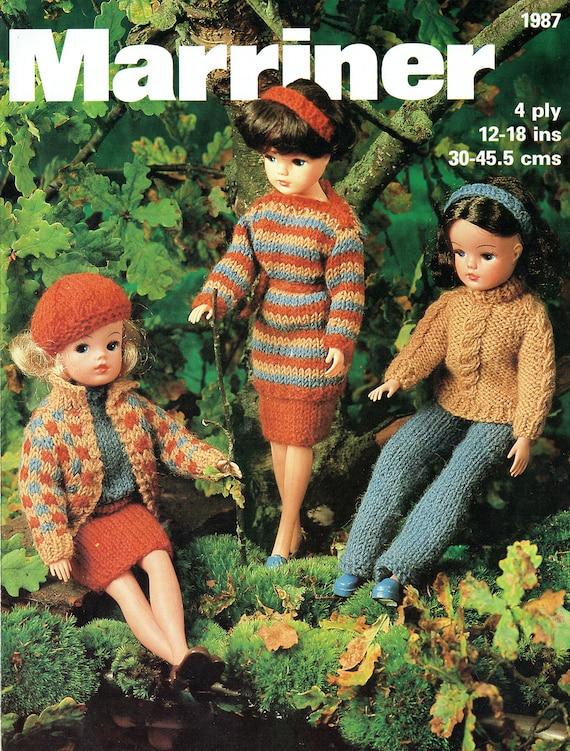 Pdf Vintage Sindy Barbie Doll Clothes Knitting Pattern Boho Etsy