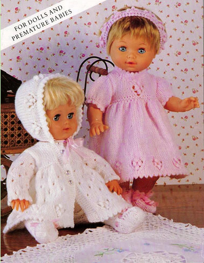 1e839e72b8fb PDF Doll Clothes Knitting Pattern Premature Baby Dress