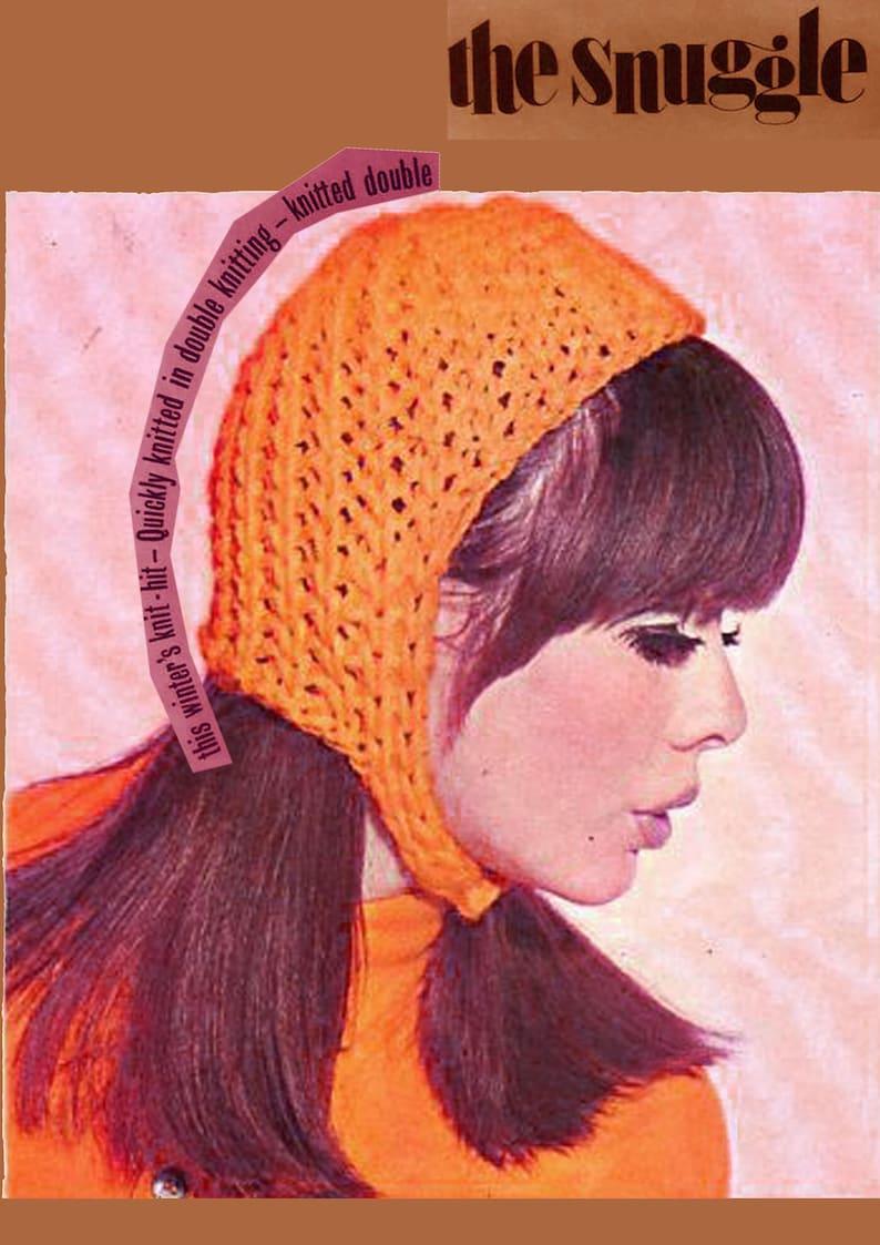 d532d89d6969 Pdf Vintage 1960s Ladies Helmet Hat Knitting Pattern EASY