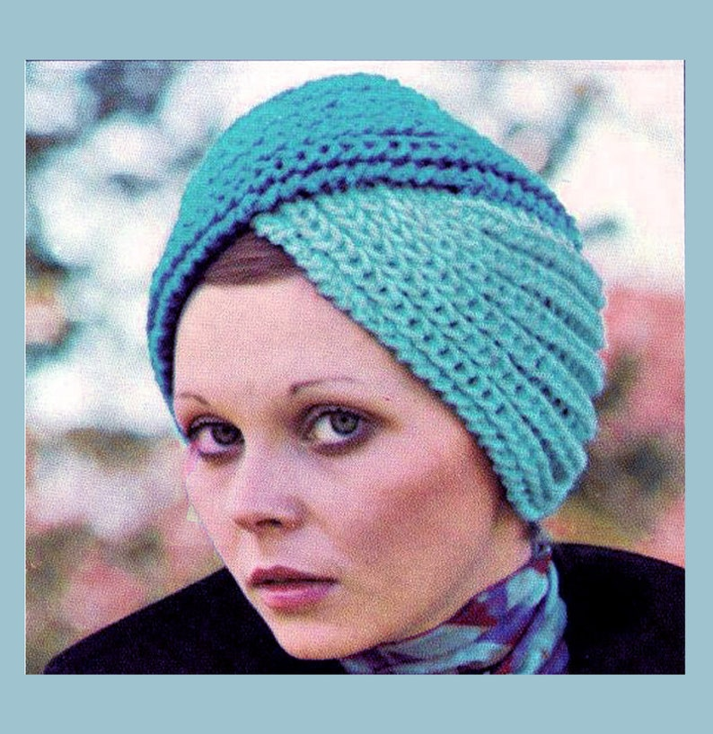 PDF Vintage Womens Ladies Luxury Turban Hat Knitting ...