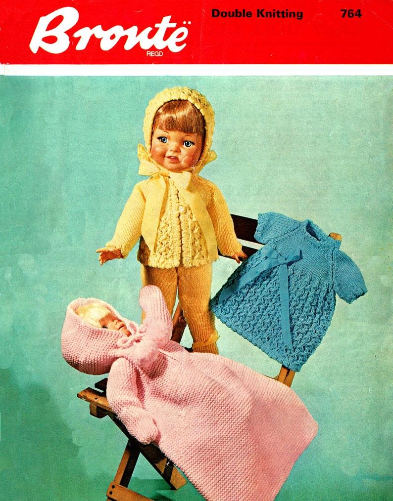 b3b36a531 PDF Vintage Dolls Clothes Premature Baby Knitting Pattern