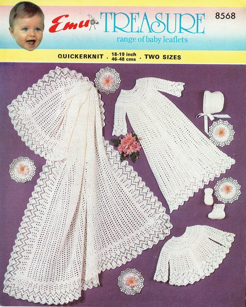 7066919cd PDF Vintage Baby Victorian Christening Knitting Pattern