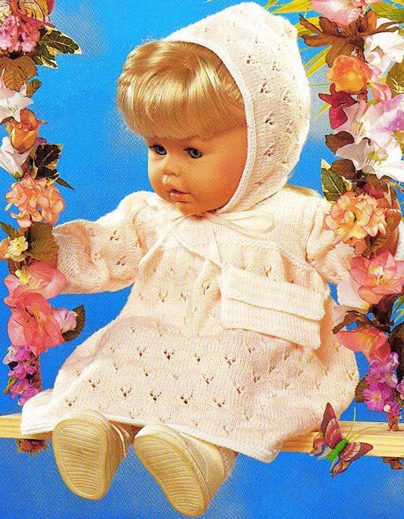 PDF Premature Baby & Doll Clothes Knitting Pattern Preemie ...