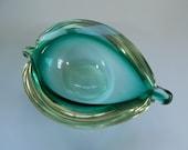 Small Vintage Murano Art Glass Geode bowl Dish