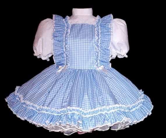 Dress dress Sissy Dorthy ABDL Adult Sissy adult Clothing Adult Sissy Crossdresser Dress Adult Gingham Sissy Dress blue 105wUxqfx
