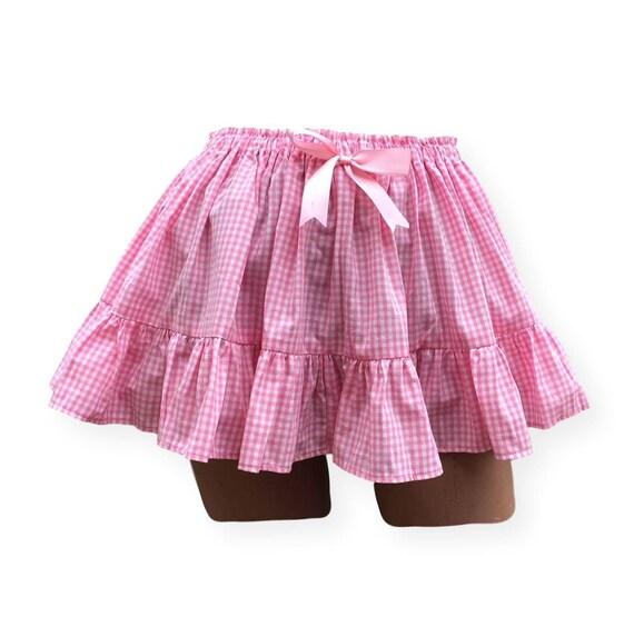 Pink Mini Skirt, Adult Sissy Dress Up, Adult Baby Clothing,ABDL, Crossdresser, Pink Gingham Skirt, Lolita, Short Skirt, Cosplay, Cute Skirt