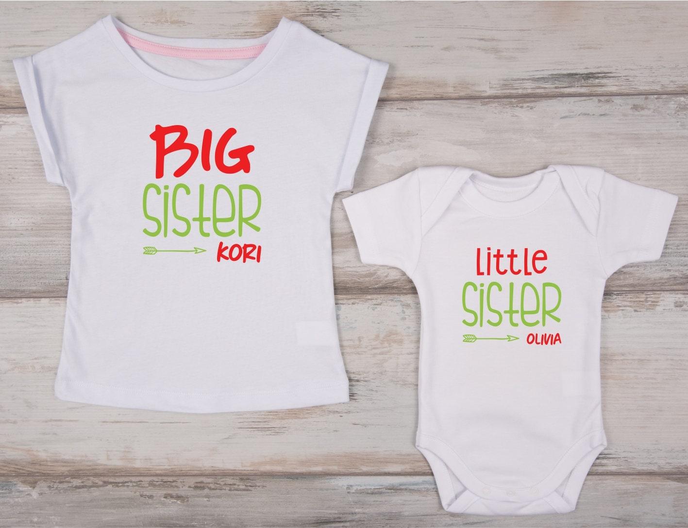 Weihnachten-Shirts große Schwester kleine Schwester | Etsy