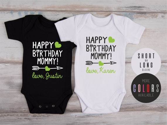 Mom Birthday Baby Outfit Happy Birthday Mommy Custom Gift For Mom More Colors Available Mom Birthday Gift Personalized Bodysuit