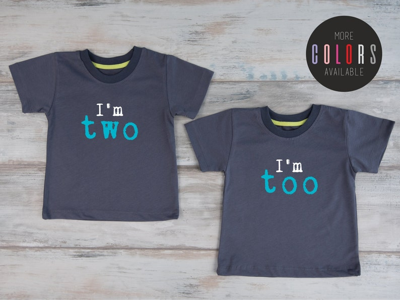 Second Birthday Twin Shirts Shirt 2 Two Year Old Outfit