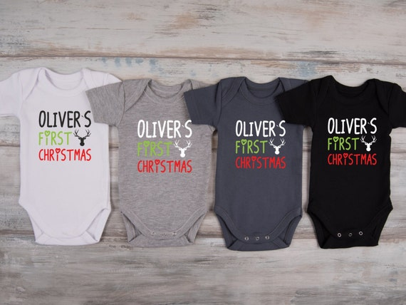 Baby Boy Christmas Outfit, MY FIRST CHRISTMAS Personalized Baby Boy Outfit, Christmas  Baby Boy Outfit, Christmas Baby Bodysuit - Baby Boy Christmas Outfit MY FIRST CHRISTMAS Personalized Etsy
