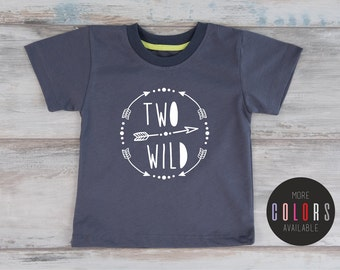 Second Birthday Shirt, TWO WILD Birthday Shirt 2, Two Year Old Birthday T-Shirt, Toddler Second Birthday Outfit, More Colors Available