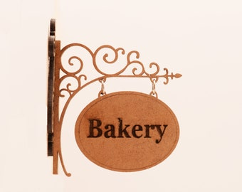 Bakery Sign ~ 12th Scale ~ Miniature Shop Sign ~ Bespoke Miniature Shop Signs