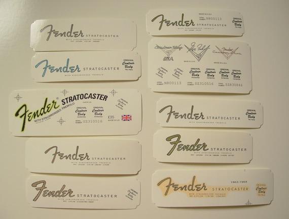 Alle Era Periode Custom Shop Set Fender Spindelstock | Etsy