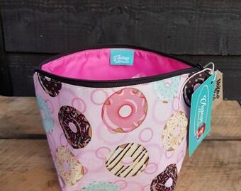 Sweet Donuts Retro Print Makeup Bag