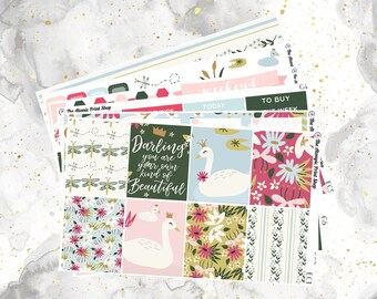 REFORMATTED! Swan Lake Weekly Kit for Erin Condren and Happy Planners