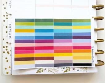 56 Multicolored Headers Labels for Erin Condren, Happy Planner, Scrapbooking, etc.