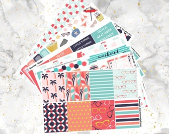 Resort- Beach - Weekly Kit for Erin Condren and Happy Planners