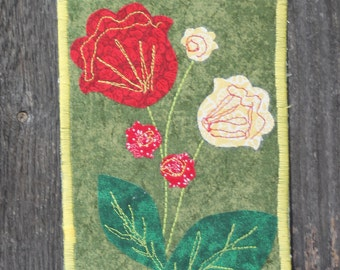 Pretty Weeds Fabric Postcard (OOK)