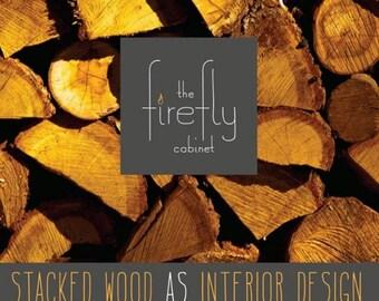 Firewood Storage, Chimney Cabinet   Colonial Black