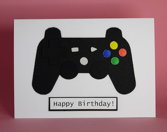 Handmade Gamer Conrtoller Birthday Card Male Teenager Gaming Geek