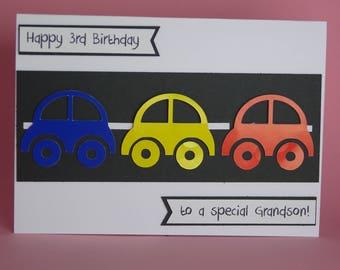 Handmade Car Birthday Card Boys 1st Theme Racing For Him