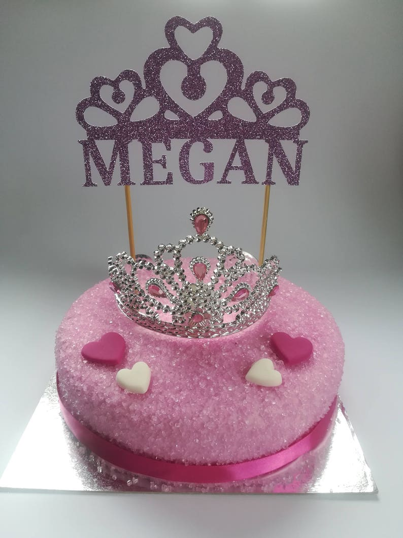 Princess Cake Topper Personalised 1st Birthday