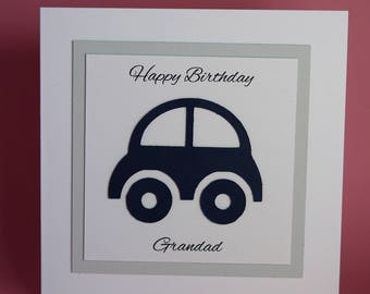 Handmade Car Birthday Card, male birthday card, driving test card, driving test congratulations