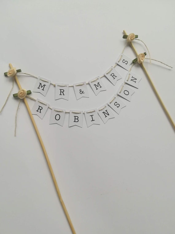 Cake Topper Bunting