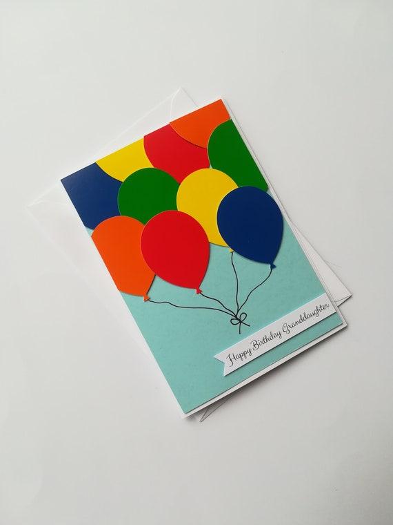 Bunch Of Balloons Handmade Birthday Card Balloon