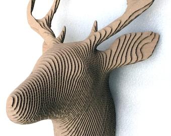 Deer Head Cardboard
