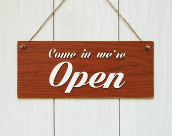 Open/Closed sign / Sign for shop / Sign for coffee shop / Stylish sign for front door / Sign for office / double sided sign / Business Sign.