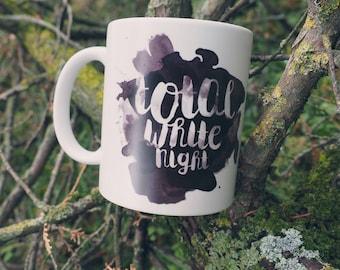 Total White Night (in black) mug