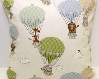 Zoo Animals - Air Balloon  // Filled Cushion // Various Sizes