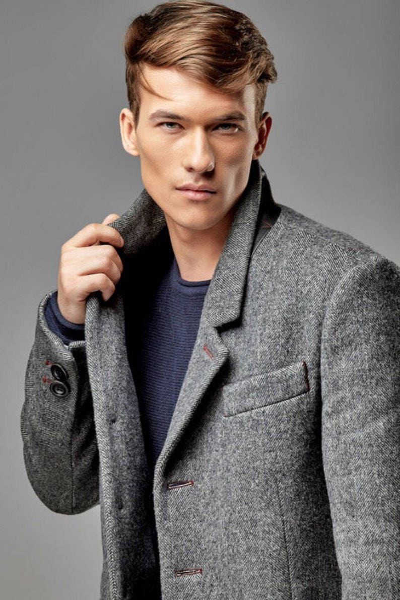 a5ee486f6b8 Men s coat mens coat wool wool coat men tweed jacket