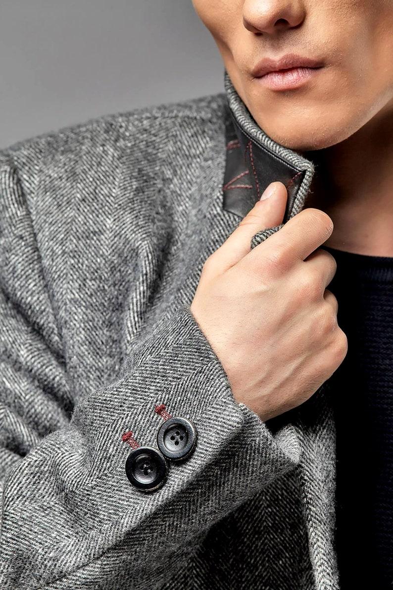 Mens coat Mens wool coat Mens overcoat Wool coat men Mens image 0