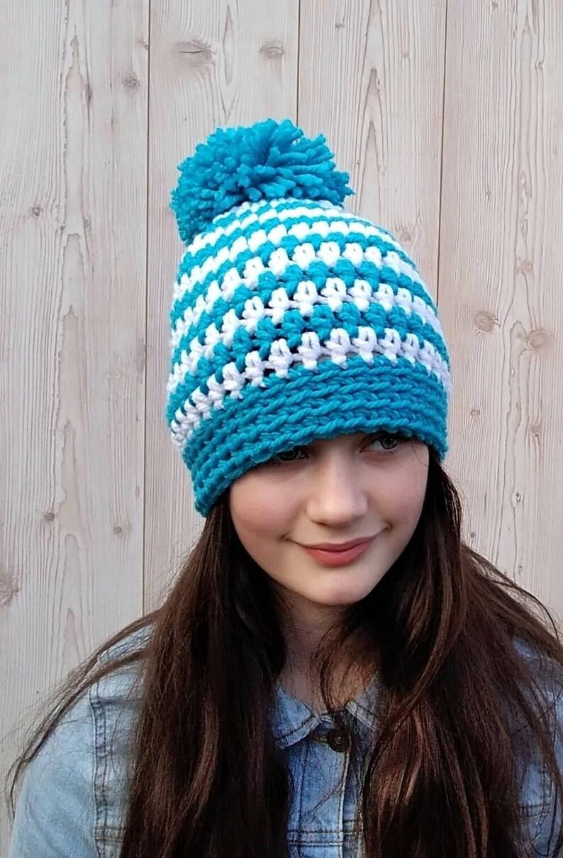 a36f1533b5321 Ladies Winter Hat Handmade Hat Winter Hat Winter Bobble