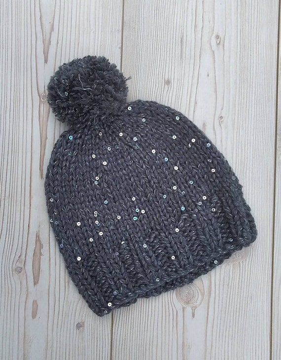 Ladies Winter Hat Chunky Woolly Hat Teenagers HatAdults  e366be97365