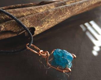 Raw Apatite Necklace, Apatite Necklace
