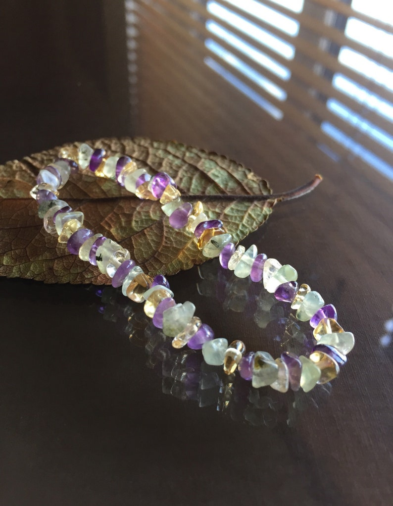 Jewelry Gifts Citrine and Prehnite Bracelet Amethyst Jewellery Gifts