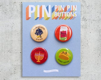 New Girl Button Set / TV Show Buttons / Pinback Buttons / Gift Set