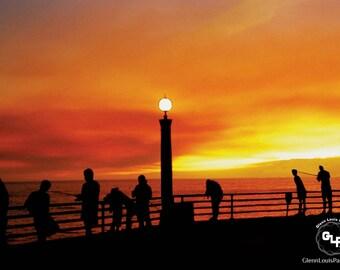 Manhattan Beach Pier California During the 1992 Malibu Fires & Topanga Canyon Fires 35mm Film Scan - Instant Download