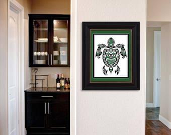 "Haida Style Turtle ""The Traveler"" - Fine Art Print, Giclee Print, Poster Print of Pacific Northwest Coast Turtle Art"