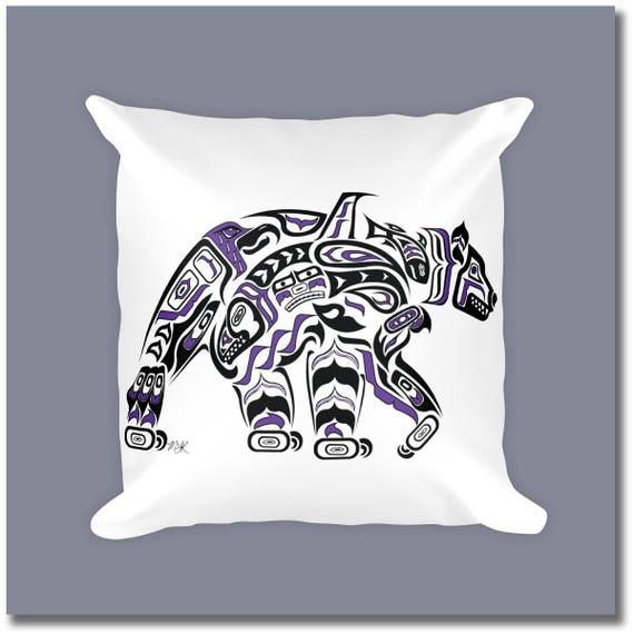 Canadian Inspired Home Decor Canada Pillow Via Etsy: Haida Art Style Bear Throw Pillow Kodiak
