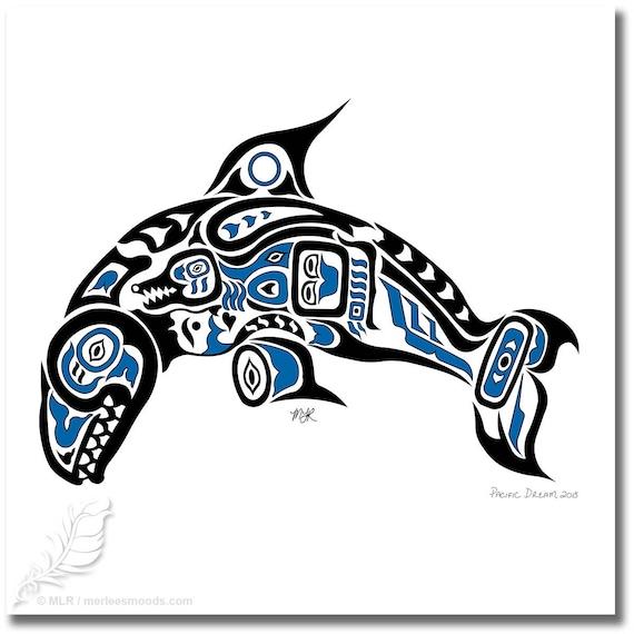 Haida Art Whale Haida Art Style Killer Whale Pacific Dream 11x14 Etsy