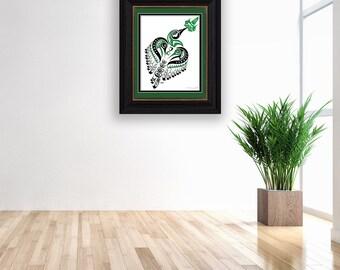 "Haida Style Hummingbird ""Matriarch"" - Fine Art Print, Giclee Print, Poster Print of Pacific Northwest Coast Hummingbird Art"